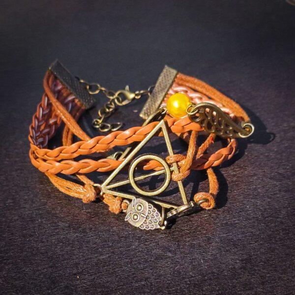 Harry Potter relikvije smrti braon narukvica 2