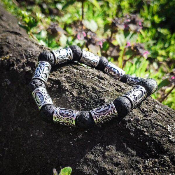 Viking Lava kamen narukvica 2