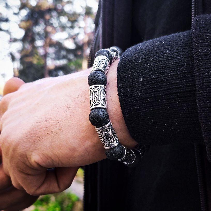 Viking Lava kamen narukvica 4