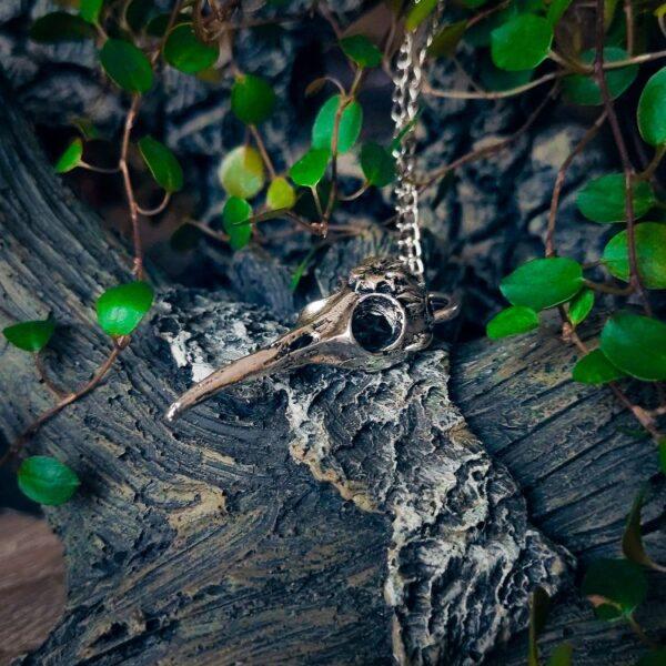Vrana ogrlica srebrna Witchcraft 5