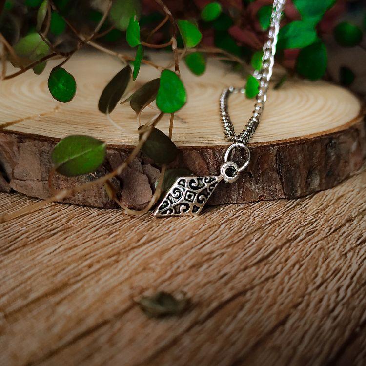 Romb ogrlica srebrna Witchcraft 4