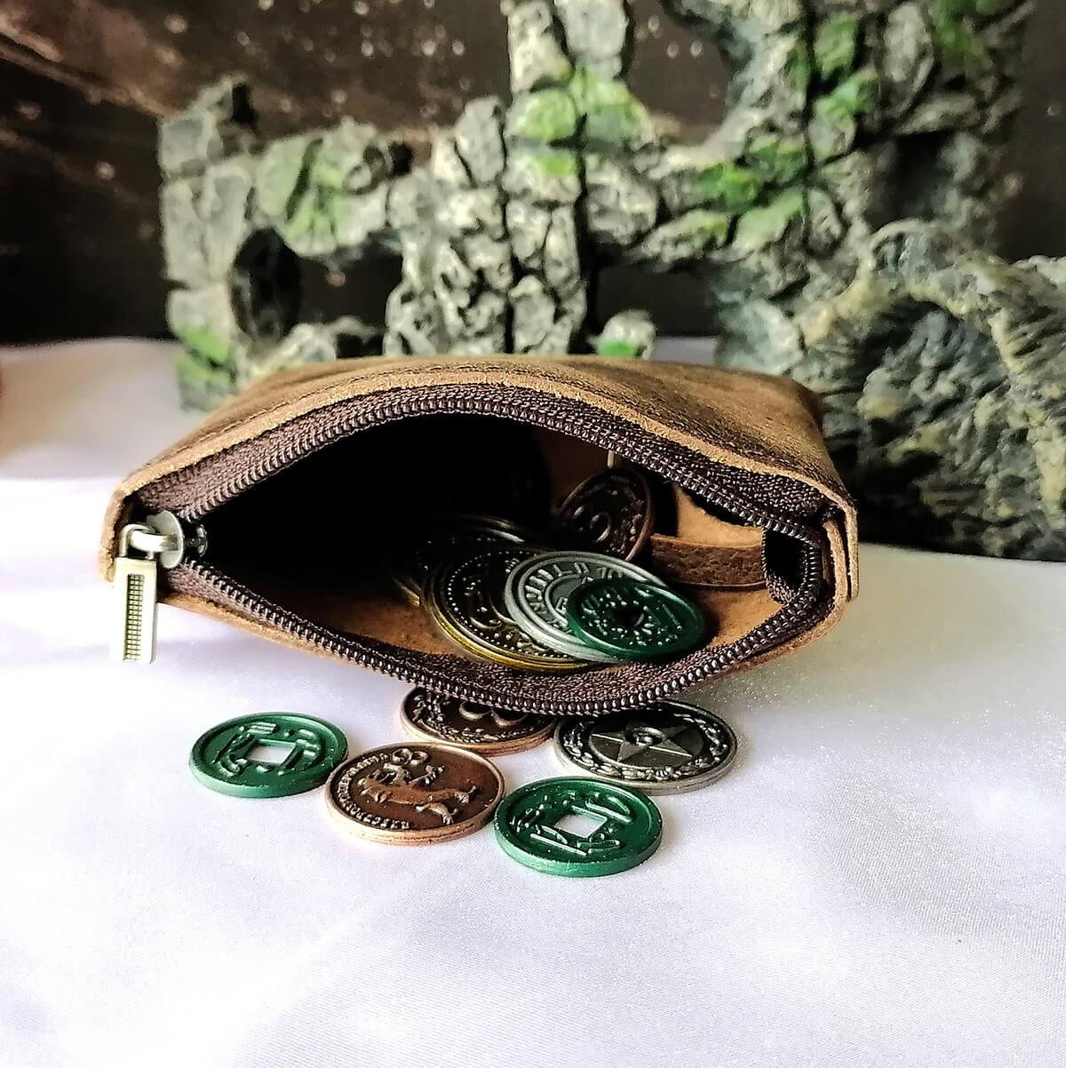 Novčanik za novčiće prirodna koža